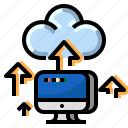 cloud, communication, computer, internet, network, upload icon