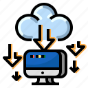 cloud, communication, download, internet, network icon