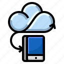 cloud, communication, internet, mobile, network icon