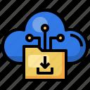 folder, download, cloud, computing, data, file, storage