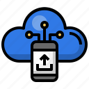 smartphone, cloud, computing, data, upload, storage