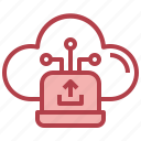 laptop, upload, computing, cloud, hosting