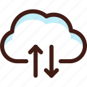 cloud, connection, data, host, server, sync, synchronization icon