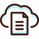cloud, data, doc, file, host, server, sync icon