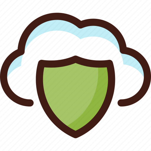cloud, data, host, security, server, shield, sync icon