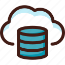 archive, cloud, data, file, host, server, sync icon