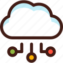 cloud, connection, data, host, server, sync, way icon