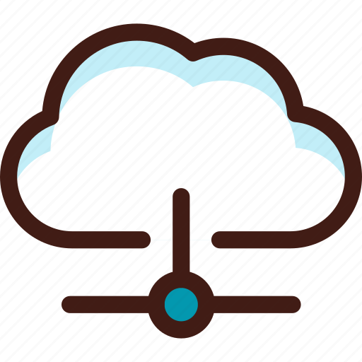 cloud, connection, data, host, lan, server, sync icon