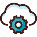 cloud, data, host, options, server, settings, sync icon