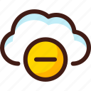 cloud, data, delete, host, minus, server, sync icon