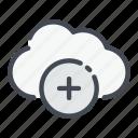 add, archive, cloud, create, new, service, storage
