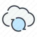archive, cloud, refresh, service, storage, sync, update