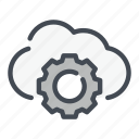 archive, cloud, gear, options, service, settings, storage icon