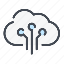 archive, cloud, connect, connection, service, storage, sync icon