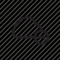 cloud, cut, delete, file, folder, remove icon