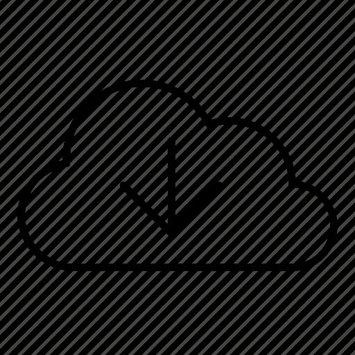 arrow, arrow down, cloud, download, get icon