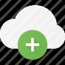 add, cloud, computing, plus icon