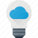 bulb, cloud, computing, ideal, light icon