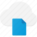cloud, computing, document, file, syncronize icon