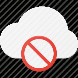 cloud, computing, disable, error icon