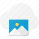 cloud, computing, image icon