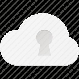 cloud, computing, lock, security icon
