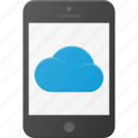 cloud, computing, phone, syncronize icon