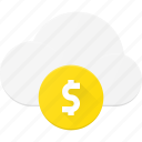 cloud, computing, money, pay, premium icon