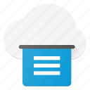 cloud, computing, print, printer icon