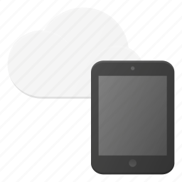 cloud, computing, syncronize, tablet icon