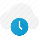 cloud, computing, time, timeout icon