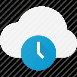 cloud, computing, time, timeout icon