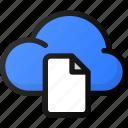 cloud, document, network, storage, data