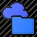 cloud, folder, network, storage, data