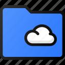 cloud, folder, storage, data, network