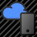 cloud, phone, storage, data, network