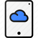 cloud, tablet, storage, data icon