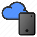 cloud, tablet, storage, data, network icon