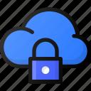 lock, cloud, network, storage, data