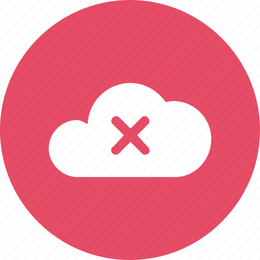 big, cloud, data, database, delete, online, storage icon
