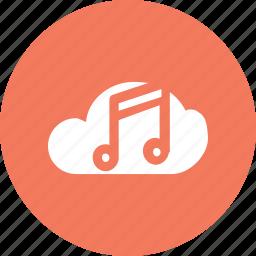 big, cloud, data, database, music, online, storage icon