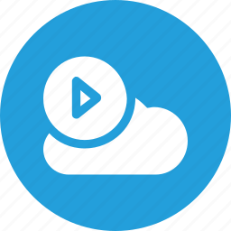 big, cloud, data, database, online, play, storage icon