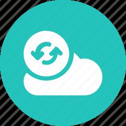 big, cloud, data, database, online, refresh1, storage icon