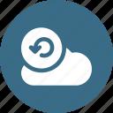 cloud, data, database, online, reload, storage icon