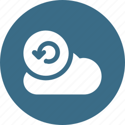 big, cloud, data, database, online, reload, storage icon