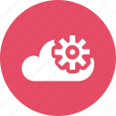 big, cloud, data, database, online, setting, storage icon