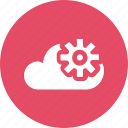big, cloud, data, database, online, setting, storage icon