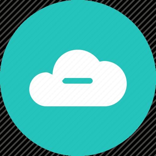 big, cloud, data, database, online, storage, subtract icon