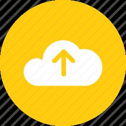 big, cloud, data, database, online, storage, upload icon
