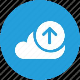 big, cloud, data, database, online, storage, upload2 icon